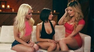 Lesbians in a passionate toying
